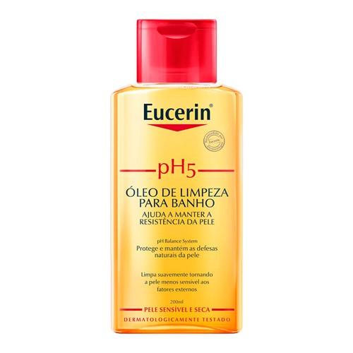 PH5 Eucerin Óleo de Limpeza para Banho Pele Sensível e Seca 200ml