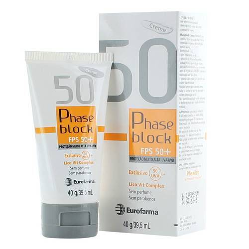 Phaseblock Creme Fps50 com 40 Gramas