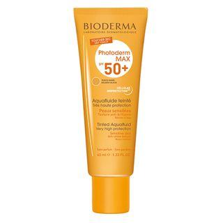 Photoderm Max Aquafluide FPS50 Bioderma - Protetor Solar com Cor Dourado