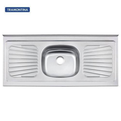 Pia de Cozinha em Aço Inox 120 X 52 Cm - New Raggi 40 - Tramontina