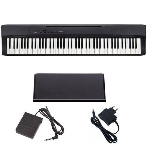 Piano Digital 88 Teclas PX160 Bk Preto Casio com Pedal SP3