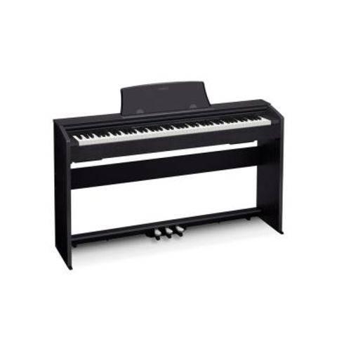 Piano Digital Casio Privia Px-770BK Preto, 88 Teclas, C/Fonte Bivolt e Teclas Sensitivas