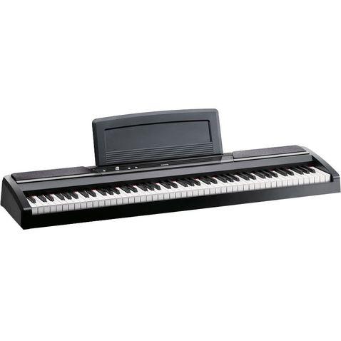 Piano Digital Korg Sp 170s com Estante Spst1w Bk - Preto