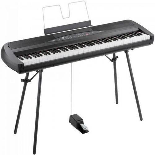 Piano Digital Sp-280bk com Fonte Preto Korg