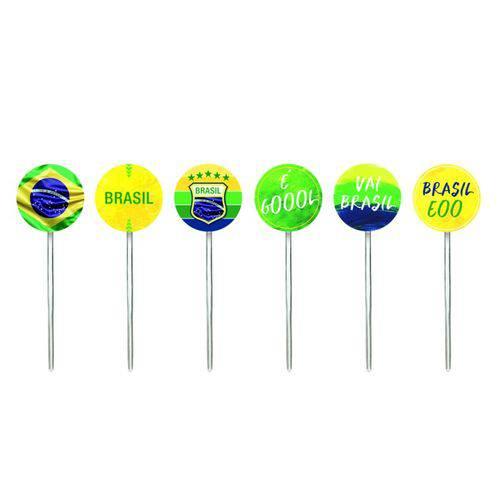 Pick Decorativo Vai Brasil Sortidos - 12 Unidades