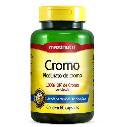 Picolinato de Cromo - 60 Cápsulas - Maxinutri
