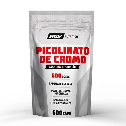 Picolinato de Cromo - 600 Cápsulas - Rev Nutrition