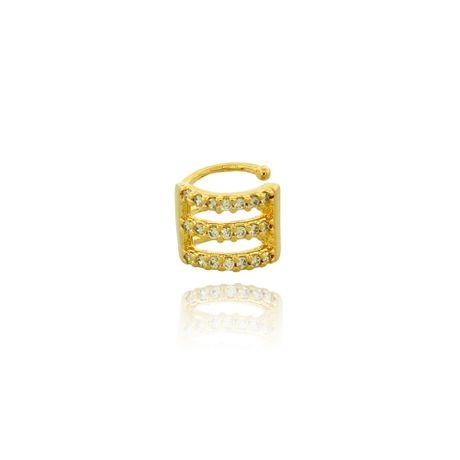 Piercing de Orelha Dourado Zircônias Cristal