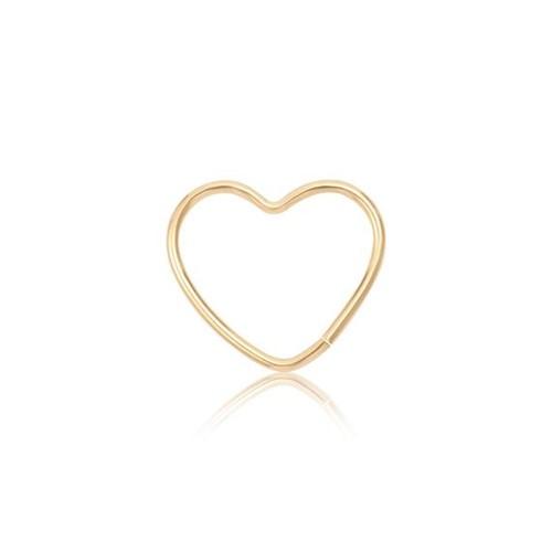 Piercing de Orelha em Ouro 18K Coração 024003170092