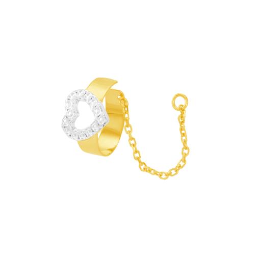 Piercing de Orelha em Ouro 18K Coração - AU6057