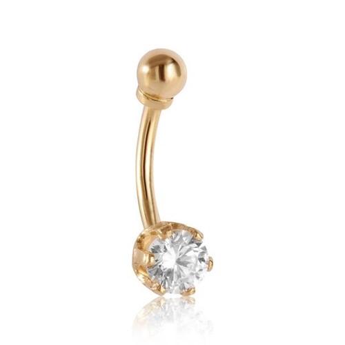 Piercing de Umbigo em Ouro 18k com Zircônia 024002660392
