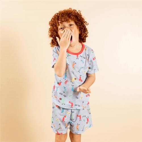Pijama Avulso Vermelho e Cinza/g