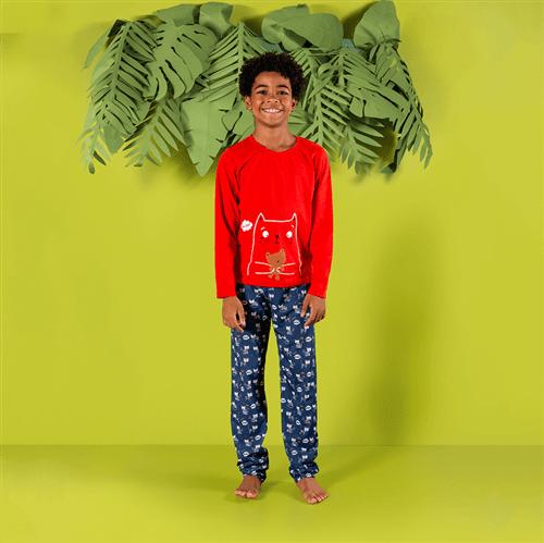 Pijama Avulso Vermelho e Marinho/m