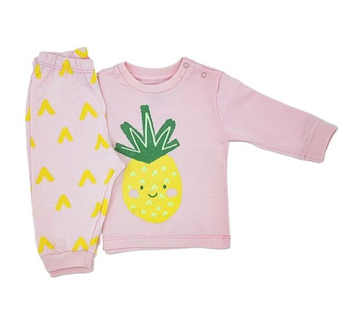 Pijama Baby Abacaxi 0 a 3 M