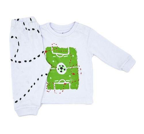 Pijama Baby Futebol 0 a 3 M
