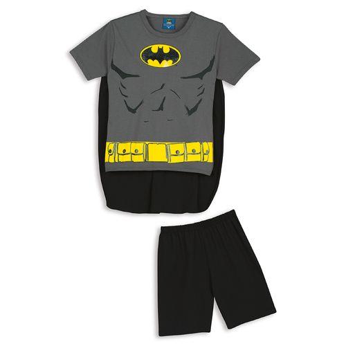 Pijama Batman Kids C/ Capa (Infantil) Tamanho: 10 | Cor: Grafite
