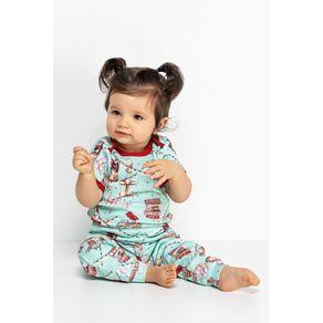 Pijama Bebe Body com Calça - Mundo Parque 18m