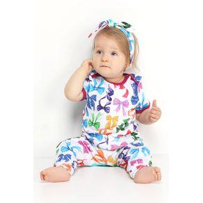 Pijama Bebê Body e Calça - Laçarote 6-9m