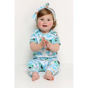 Pijama Bebê Body e Calça - Rainbow 6-9m