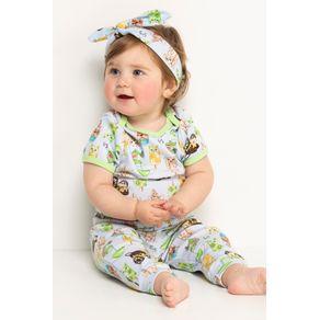 Pijama Bebê Body e Calça - Sorvete e Cachorros 9-12m