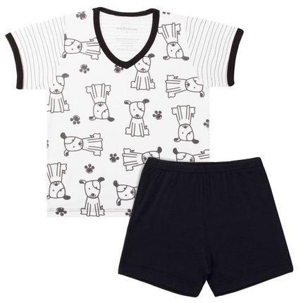 Pijama Curto em Malha Dog - Dedeka