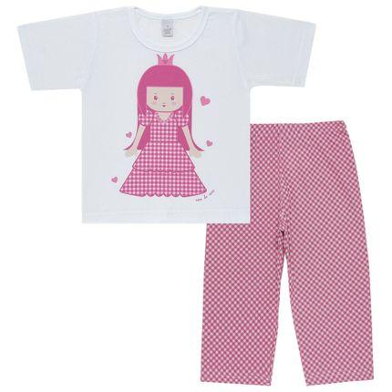 Pijama Curto em Malha Princesinha - Cara de Sono