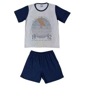 Pijama Curto Infantil para Menino - Azul 10