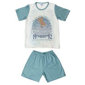 Pijama Curto Infantil para Menino - Verde 10