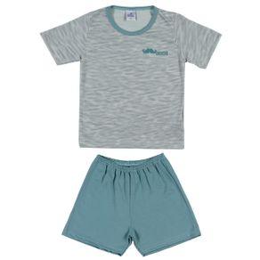 Pijama Curto Infantil para Menino - Verde 6