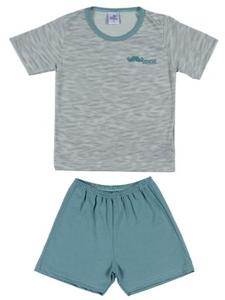Pijama Curto Infantil para Menino - Verde