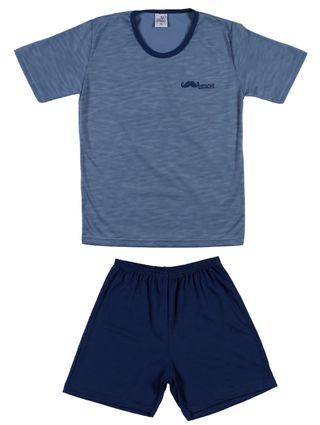 Pijama Curto Juvenil para Menino - Azul