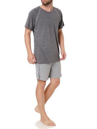 Pijama Curto Masculino Cinza