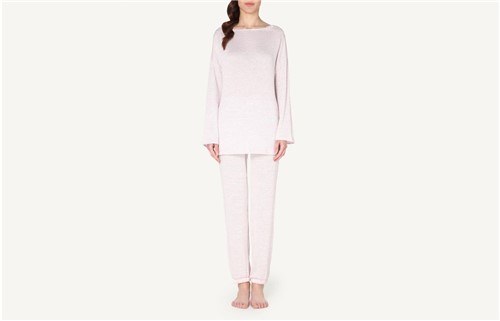 Pijama em Viscose e Renda - Rosa G
