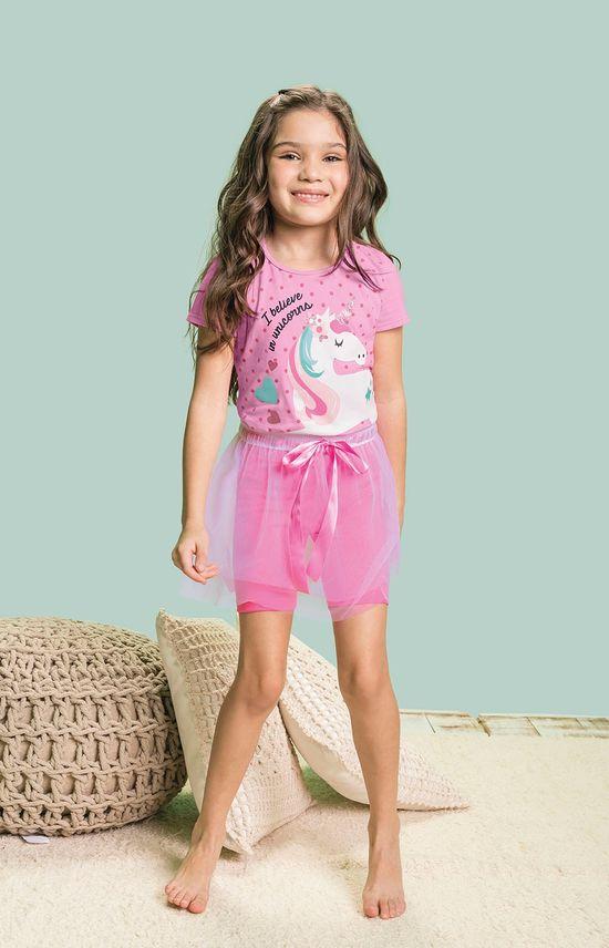 Pijama Estampado Menina Malwee Liberta Branco - 1