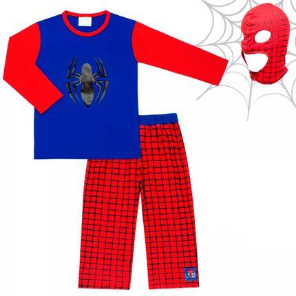 Pijama Fantasia em Malha Homem Aranha - Marvel By Fefa