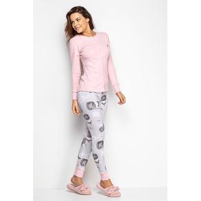 Pijama Feminino com Botão - Coelhos de Shock Gg