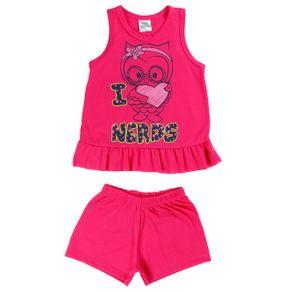 Pijama Infantil para Menina - Rosa 1