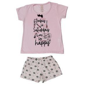 Pijama Infantil para Menina - Rosa 4