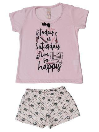 Pijama Infantil para Menina - Rosa