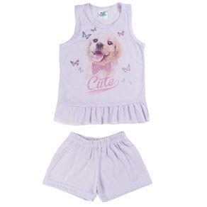 Pijama Infantil para Menina - Roxo 2