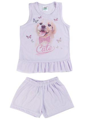 Pijama Infantil para Menina - Roxo