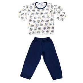 Pijama Infantil para Menino - Azul/branco 2