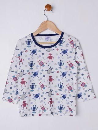 Pijama Infantil para Menino - Azul/branco