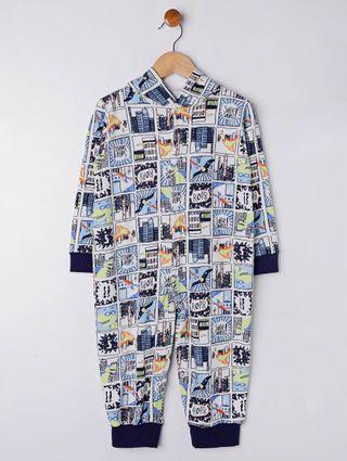 Pijama Infantil para Menino - Branco/azul