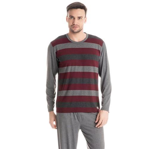 Pijama José Longo Mescla Escuro/P