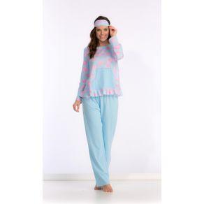 Pijama Longo C/ Bolso, Babado, Acabament-bale Unicornios/planeta - 1302 Gg