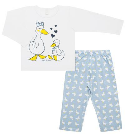 Pijama Longo em Malha Quack Quack! - Cara de Sono
