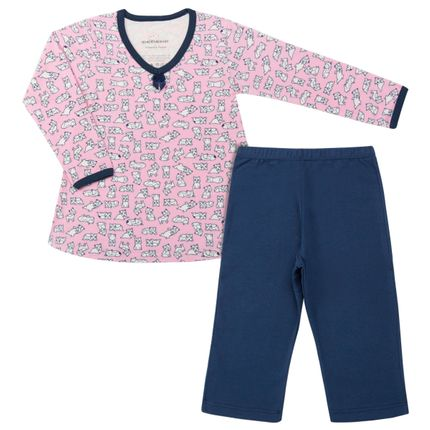 Pijama Longo em Suedine Dog - Dedeka