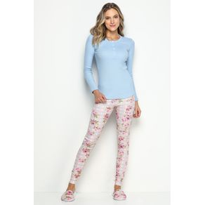 Pijama Longo Feminino - Botânica Gg