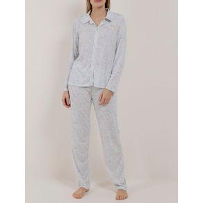 Pijama Longo Feminino Verde G